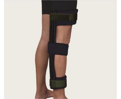 Νάρθηκας ακινητοποίησης γόνατος, ανοιχτός