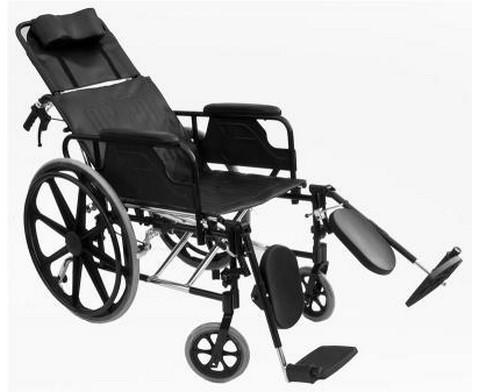 Αναπηρικό Αμαξίδιο Αλουμινίου με Ανακλινόμενη Πλάτη Recliner