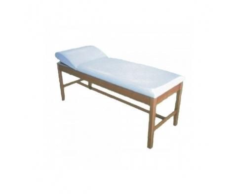 Εξεταστικό Κρεβάτι Ξύλινο Με Πομπέ Προσκέφαλο  Φυσικό Χρώμα Ξύλου