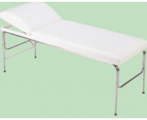 Κρεβάτι με σταθερά χρώμιο πόδια & πομπέ προσκέφαλο